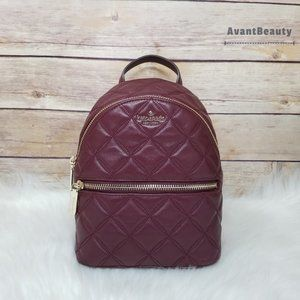 Kate Spade Mini Convertible Backpack Leather Red